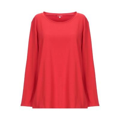 CRISTINA ROCCA T シャツ レッド 44 コットン 95% / ポリウレタン 5% T シャツ