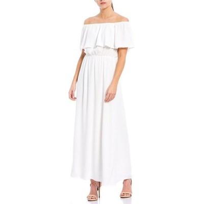 シュガーリップス レディース ワンピース トップス Off-the-Shoulder Maxi Dress