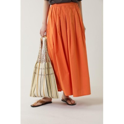 (ROSE BUD/ローズバッド)インドタックロングスカート/レディース オレンジ