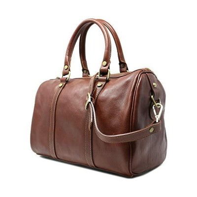 Floto Boston Bag in Brown Calfskin Leather【並行輸入品】