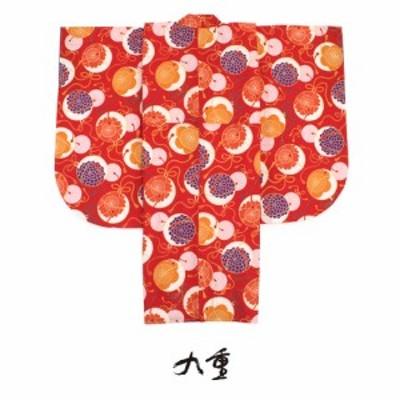 二尺袖着物 ブランド 京都 九重 赤 レッド 桜 菊 鈴 花 小振袖 袴用 卒業式 謝恩会 結婚式 販売 仕立て上がり 日本製