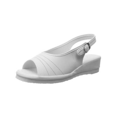 (FOOT PLACE/フットプレイス)レディース ナースサンダル 黒 白 ピュアウォーカー ベーシック DM-PW7601/レディース ホワイト