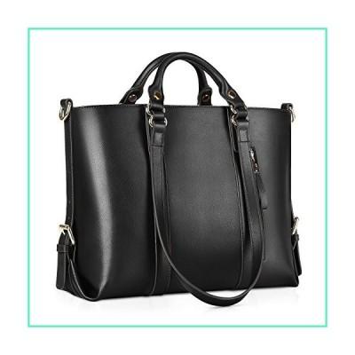 Kattee Women's Genuine Leather Handbags for Women, Tote Bags and Cross-body Purses Black並行輸入品