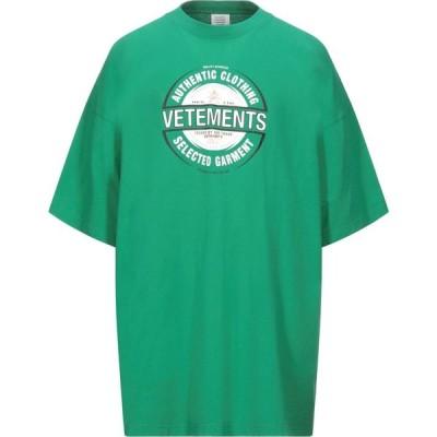 ヴェトモン VETEMENTS メンズ Tシャツ トップス t-shirt Green