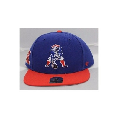 帽子 47 Brand New England Patriots Legacy ブルー/レッド 47 ストラップback アジャスタブル ハット 帽子 キャップ