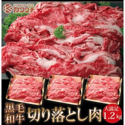 父の日 プレゼント 和牛 切り落とし 肉 1.2kg(400g x 3)  ギフト すき焼き 牛肉 ギフト 訳あり