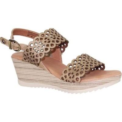 ドロミダリス Dromedaris レディース サンダル・ミュール シューズ・靴 Libby Quarter Strap Sandal Beige Waxed Leather