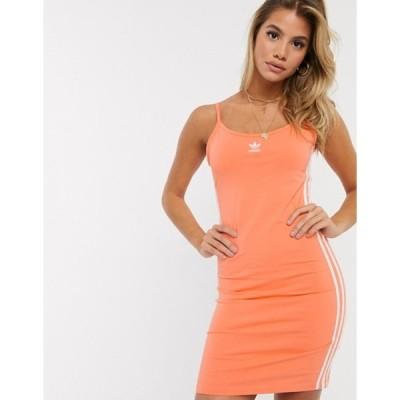 アディダス レディース ワンピース トップス adidas Orignal three stripe strap dress in pink