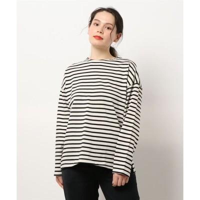 tシャツ Tシャツ ゆるBIGボーダーロングTシャツ