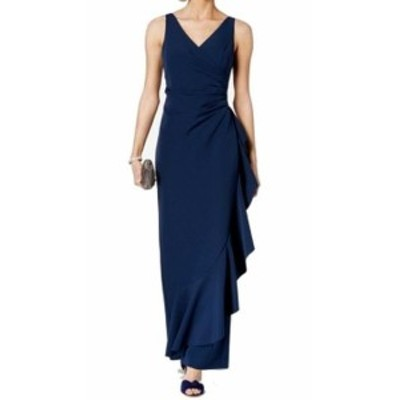 Vince ヴィンス ファッション ドレス Vince Camuto NEW Blue Womens Size 8 Ruched Ruffle Trim Sheath Dress
