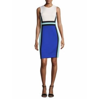 カルバンクライン レディース ワンピース Colorblock Roundneck Shift Dress