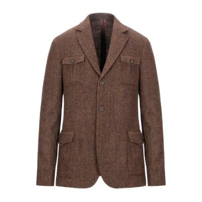 ALESSANDRO GILLES テーラードジャケット ブラウン 52 バージンウール 100% テーラードジャケット