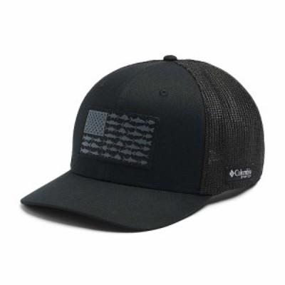 コロンビア Columbia ユニセックス キャップ 帽子 PFG Mesh Ball Cap XXL Black/Fish Flag