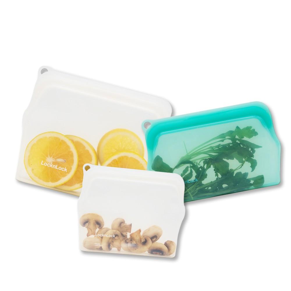 【樂扣樂扣】矽膠食物袋(多組任選、密封、可重複使用、方便攜帶)