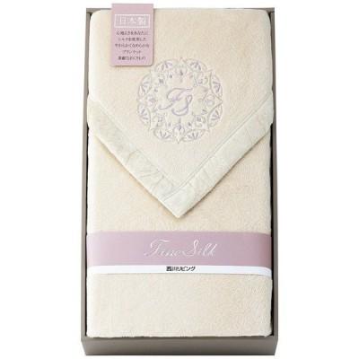 西川リビング シルク毛布(毛羽部分) ギフト包装・のし紙無料 (A3)