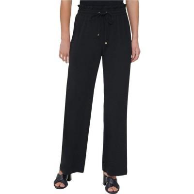 カルバンクライン Calvin Klein レディース ボトムス・パンツ ワイドパンツ Pull-On Wide Leg Pants Black