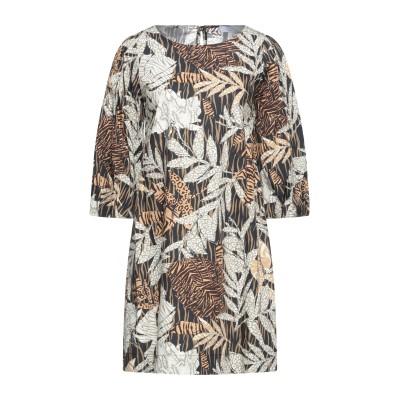 カオス KAOS ミニワンピース&ドレス ブラック 48 コットン 100% ミニワンピース&ドレス