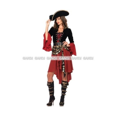 ハロウィン コスプレ 衣装/赤×黒 海賊 コスチューム /Yapy7805