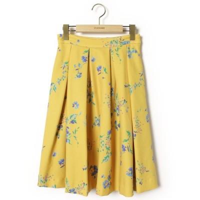 スカート 花柄フレアスカート