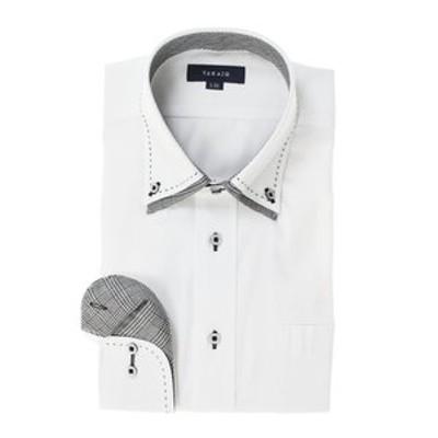 形態安定レギュラーフィット2枚衿ドゥエボットーニハンドステッチ長袖ビジネスドレスシャツ/ワイシャツ