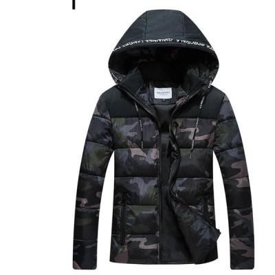 ジャケット コート  迷彩服 メンズ 中綿 アウター アウター 防寒 秋冬 軽量 防風 OL 通勤 暖かい ファスナー カジュアル フード付き
