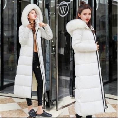 4色 レディース ロング丈 中綿 チェック ダウンコート 上着 ダウンジャケット ファーフード付き  防寒 防風 OL 通勤 暖かい カジュア