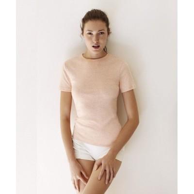 (PETIT BATEAU/プチバトー)【Femme】クルーネック半袖Tシャツ_N/レディース オレンジ