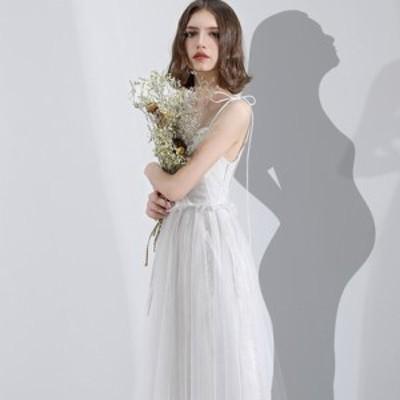 ウェディングドレス 二次会 花嫁ドレス 結婚式 ドレス パーティードレス Aライン カジュアル ナチュラル 大きいサイズ xl 2xl 袖なし お