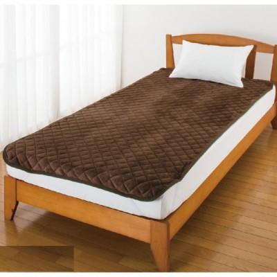 フランネル敷きパッド 97957 ふんわり柔らかな起毛した生地表面。 保温・保湿性に加え、軽い着心地