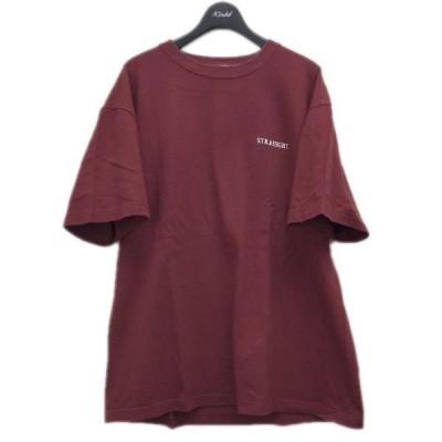STRAIIIGHT 「SWEETS TEE」 ロゴプリントTシャツ バーガンディー サイズ:XL (代官山店) 210503
