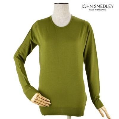 【バレンタインデーフェア】ジョンスメドレー GERANIUM ゼラニウム ニット セーター クルーネック レディース グリーン