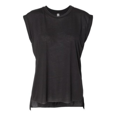 レディース 衣類 トップス BELLA + CANVAS - Women's Flowy Rolled Cuffs Muscle Tee - IWPF Tシャツ