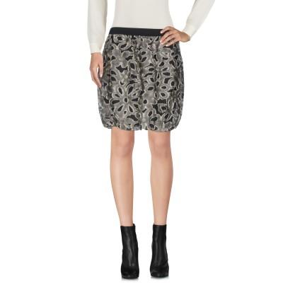 ジジル JIJIL ミニスカート ブラック XS 麻 50% / コットン 34% / ナイロン 16% ミニスカート