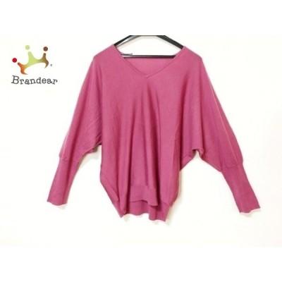 プレインピープル PLAIN PEOPLE 長袖セーター サイズ9 M レディース ピンク 新着 20200227
