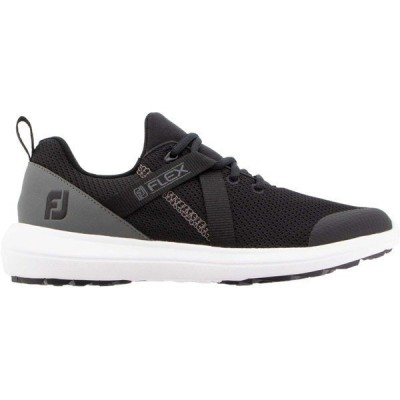 【当日出荷】 フットジョイ レディース FootJoy Women's Flex Golf Shoes Black/Charcoal 【サイズ 9M】