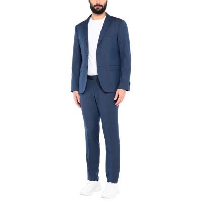 DOMENICO TAGLIENTE スーツ ブルー 46 ポリエステル 77% / レーヨン 21% / ポリウレタン 2% スーツ