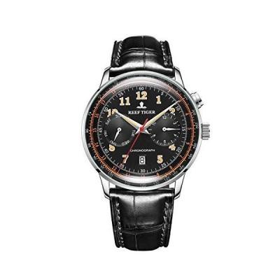 並行輸入品Reef Tiger RGA9122 クラシックビンテージウォッチ ビジネスメンズ機能自動腕時計 スチールブレスレット