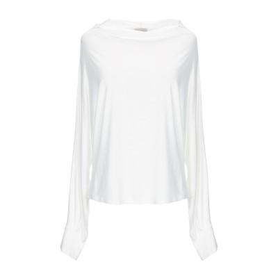 メルシー ..,MERCI T シャツ アイボリー L レーヨン 95% / ポリウレタン 5% T シャツ