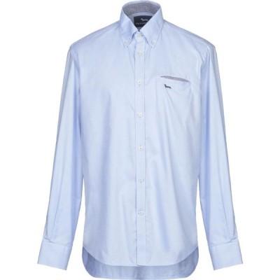 ハーモント アンド ブレイン HARMONT&BLAINE メンズ シャツ トップス Solid Color Shirt Sky blue