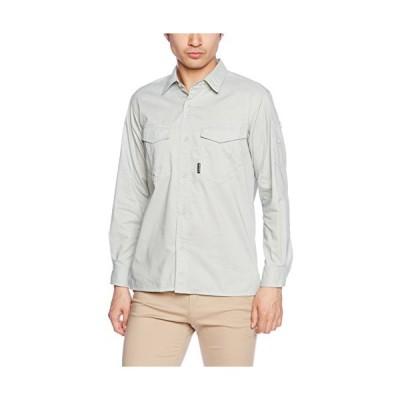 [フォーキャスト] 作業着 シャツ 夏用 上着 薄手 作業服 T/Cシーチング長袖シャツ メンズ アースグリーン M