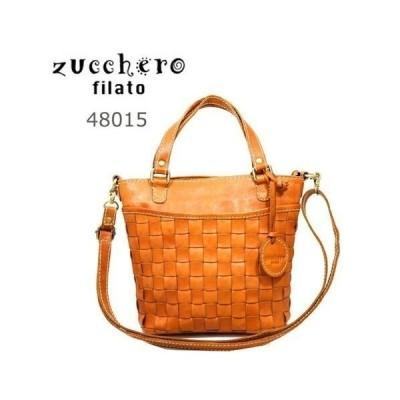 【 zucchero filato ズッケロ フィラート 】[正規品] 48015カウレザーメッシュ2wayハンドバッグ