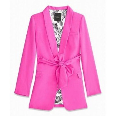 Rachel Roy レイチェルロイ ファッション 衣類 Rachel Roy NEW Pink Womens Size Medium M Belted One Button Jacket