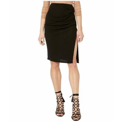 イエガルズロール スカート ボトムス レディース High Split Draped Rayon Jersey Skirt Night