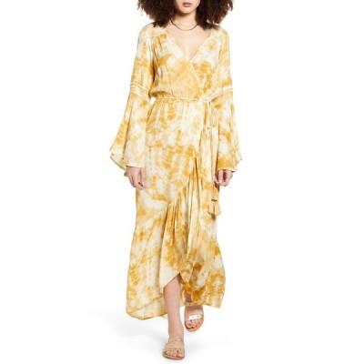 バンドオブジプシーズ ワンピース トップス レディース Zion Long Sleeve Maxi Dress Gold Ivory