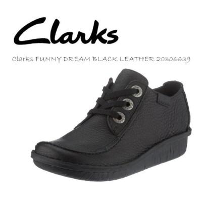 Clarks クラークスファニードリーム ウィメンズ レディース FUNNY DREAM BLACK LEATHER 20306639