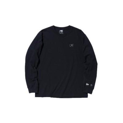 ニューエラ(NEW ERA) 長袖 コットン Tシャツ AI TAKAHASHI 高橋愛 CAT ブラック レギュラーフィット 12674274 (メンズ)