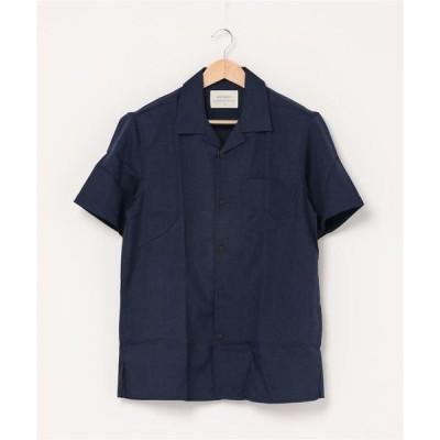 シャツ ブラウス MINS MINIS(ミンス ミニス)ポリオープンカラー半袖シャツ