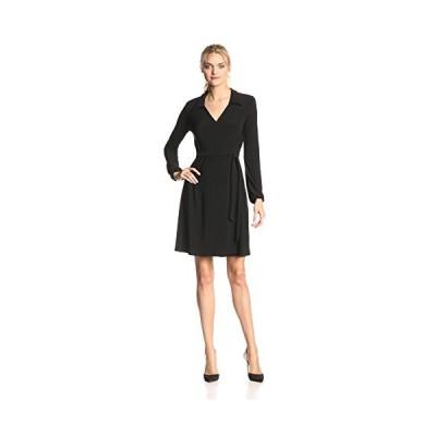 スター Vixen レディース ロング スリーブ Fullwrap ドレス, ブラック, ラージ(海外取寄せ品)
