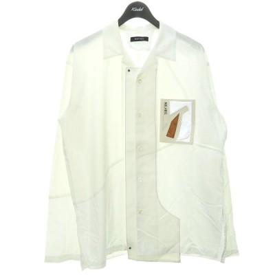 PORTVEL NULABEL 20SS 「MOTIF WORK SHIRT」 ラバーパッチシャツ ホワイト サイズ:3 (渋谷店) 201118