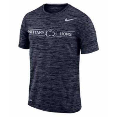 ナイキ メンズ Tシャツ トップス Penn State Nittany Lions Men's Legend Velocity T-Shirt Navy